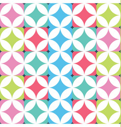 geometric seamless squares background vector image vector image
