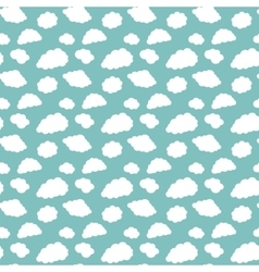 Pattern of white clouds vector image vector image
