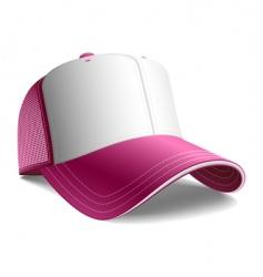 pink cap vector image