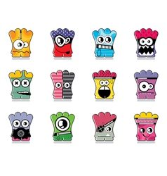 Set of twelve monster vector image