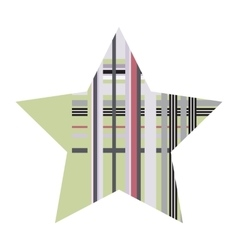 Striped Five Pointed Star Icon vector image vector image
