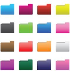 0210 folder icons set vector image