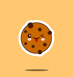 chocolate chip cookie set vector image