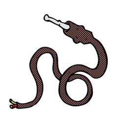 comic cartoon electrical lead vector image