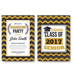 graduation party template invitation vector image