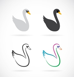 image of swan design on white background vector image vector image