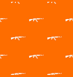 military rifle pattern seamless vector image vector image