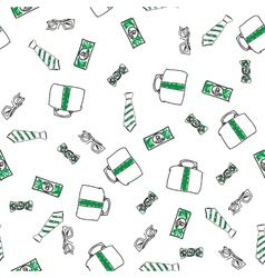 Money abstract seamless background vector image vector image