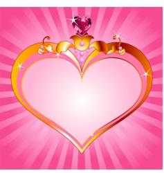 princess frame vector image vector image
