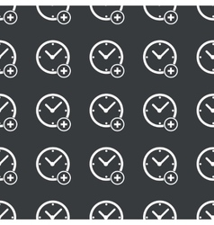 Straight black add time pattern vector