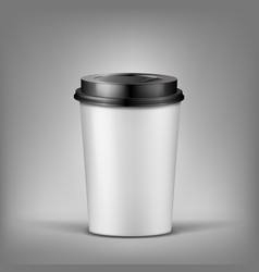 3d realistic cup of coffee with shadow vector image