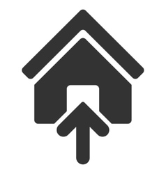 Building Entrance Flat Icon vector image vector image