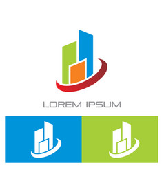 business building contruction logo vector image vector image