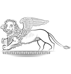 drawing lion vector image vector image