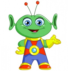 friendly alien vector image vector image