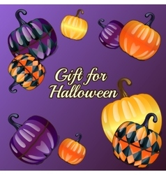 Gift for Halloween festive background vector image vector image