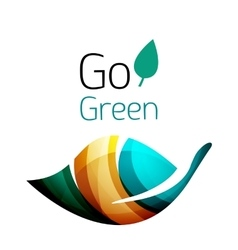 Go green Leaf nature concept vector image