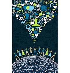Social media world people vector image vector image