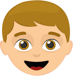 a child face vector image