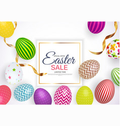 abstract easter sale template background vector image