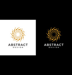abstract gold box shape - design element vector image