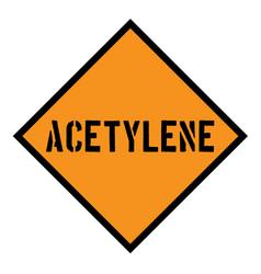 Acetylene sign label vector