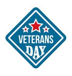 American veterans day logo flat style vector