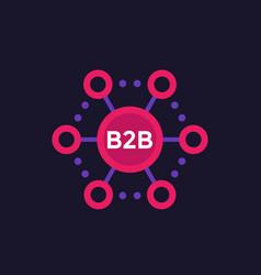 B2b commerce sales icon vector