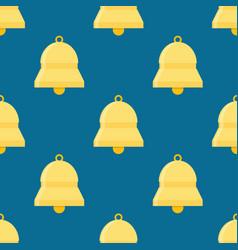 Bells ringing seamless pattern vector