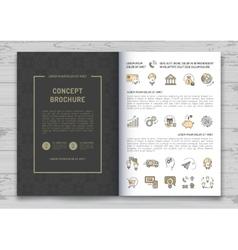Business brochure design template Elegant brand vector image