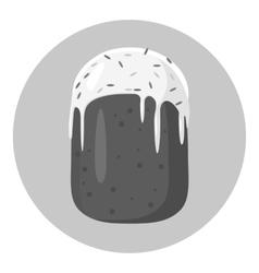Cake icon gray monochrome style vector image