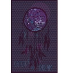 Card with dream catcher Invitation design vector