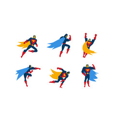 collection of superheroes superman character in vector image
