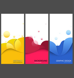Colored business banners or brochure templates vector