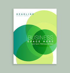 Creative business brochure template vector
