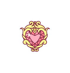 Cute jewelry heart vector