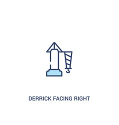 Derrick facing right concept 2 colored icon vector