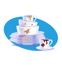 Dirty dishes composition vector