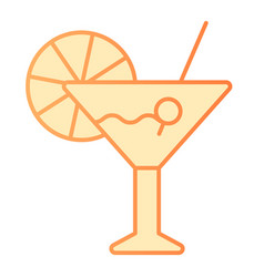 drink flat icon cocktail orange icons in trendy vector image
