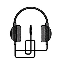 earphones audio isolated icon vector image