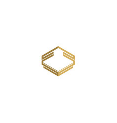 emblem shape line geometry logo vector image