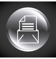 envelope mail send message isolated icon vector image