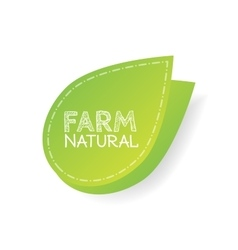 farm label over green background vector image