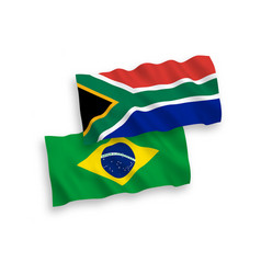 flags brazil and republic south africa on a vector image