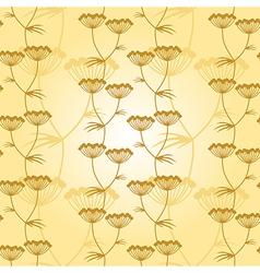 Flower pattern gold vector