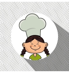 Girl kids menu food vector