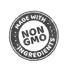 Gmo free grunge rubber stamp on white background vector