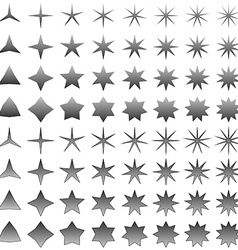 Grey star symbol set vector image