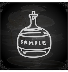 Hand Drawn Glass Bottle vector image