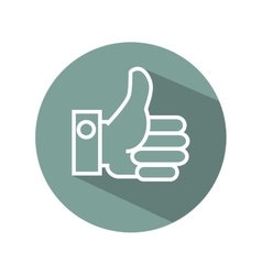 Hand like symbol flat icon vector
